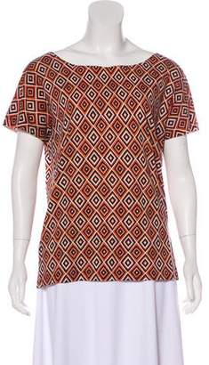 Prada Short Sleeve Printed Top