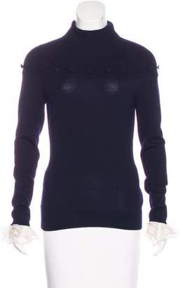 Alexander McQueen Wool Button-Accented Sweater