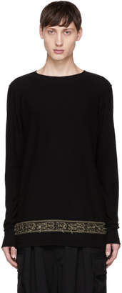 Ziggy Chen Black Detailed Hem Sweater