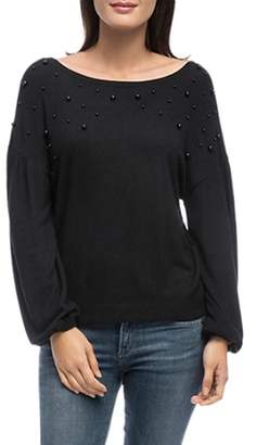 Bobeau B Collection by Scarlet Embellished Sweatshirt
