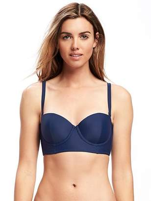 Old Navy Underwire Long-Line Balconette Bikini Top for Women