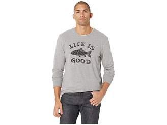 Life is Good LIG Fish Crusher Long Sleeve T-Shirt