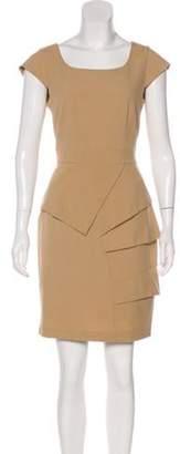 Calvin Klein Collection Mini Sheath Dress Tan Mini Sheath Dress