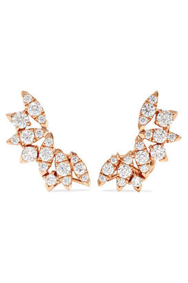 Stephen Webster Hearts On Fire White Kites Flight Large 18-karat Rose Gold Diamond Earrings