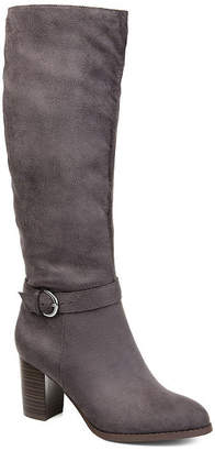 Journee Collection Womens Joelle Stacked Heel Zip Dress Boots