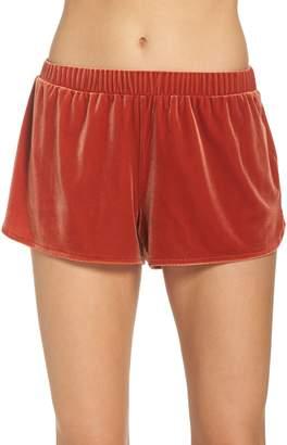 Madewell Velvet Pajama Shorts