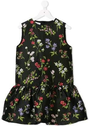 Oscar de la Renta Kids flower drop waist dress