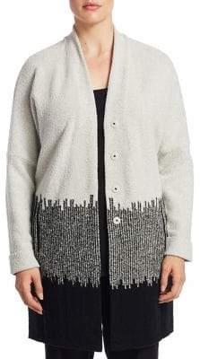 Nic+Zoe Plus Plus Block Stripes Cardigan