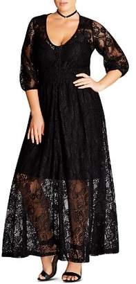 City Chic Plus Lace Maxi Dress