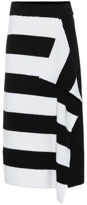 Tibi Striped merino wool skirt