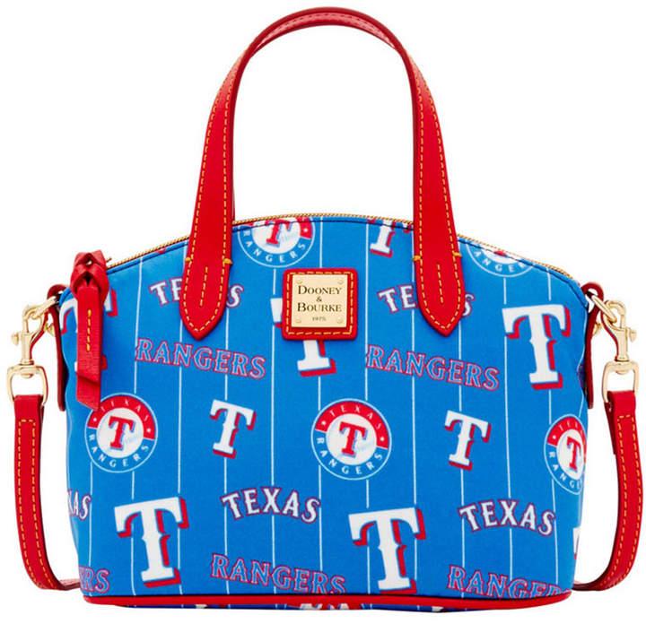 Dooney & Bourke Texas Rangers Nylon Mini Crossbody Satchel - BLUE/RED - STYLE