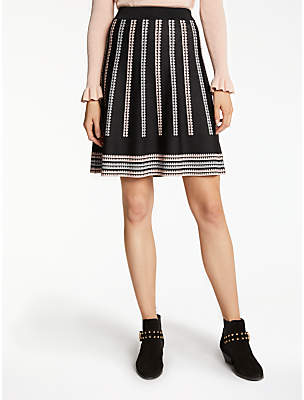 Somerset by Alice Temperley Jacquard Skirt, Black