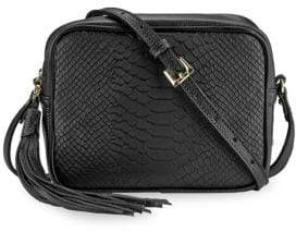GiGi New York Madison Embossed Python Boxed Crossbody Bag