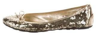 Jimmy Choo Sequin Ballet Flats