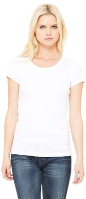 Clementine Apparel Women's Baby Rib Short-Sleeve Scoop Neck T-Shirt