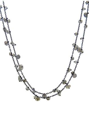 Ten Thousand Things Long Pinned Labradorite Bead Chain Necklace