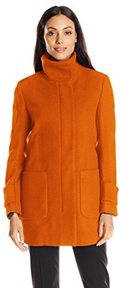 Kenneth Cole Women's Wool Coat with Front Pockets $250 thestylecure.com