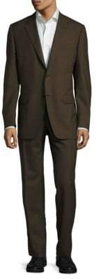 Canali Venezia Modern Fit Solid Wool Suit