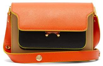 Marni Trunk Mini Saffiano Leather Cross Body Bag - Womens - Orange Multi