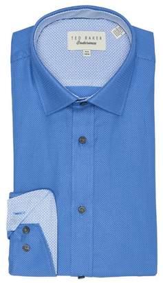 Ted Baker Etamin Endurance Textured Stripe Trim Fit Dress Shirt