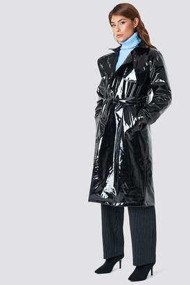 Na Kd Trend Patent Long Jacket Black