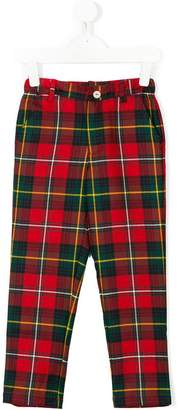 Oscar de la Renta Kids Holiday plaid trousers