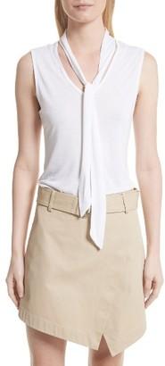 Women's Frame Sleeveless Tie Neck Blouse $115 thestylecure.com