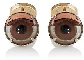 Samuel Gassmann Paris Men's Antique Doll Eye Cufflinks - Brown