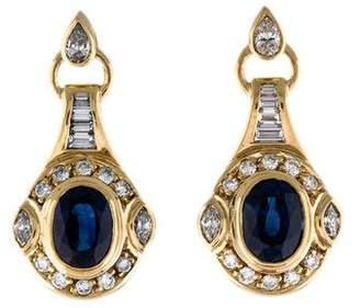 H.Stern 18K Sapphire & Diamond Drop Earrings
