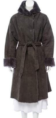 Giorgio Armani Shearling Knee-Length Coat