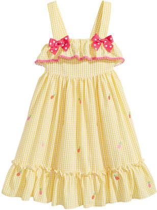 Good Lad Gingham Pineapple Dress, Little Girls