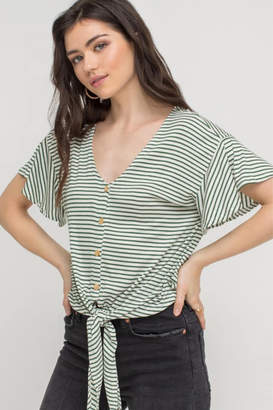 27d32babe65 Lush Clothing Button Tie Front Top