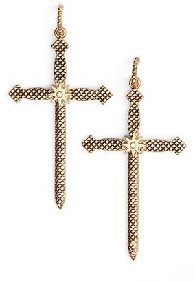 Women's Luv Aj Serpent Cross Earrings $75 thestylecure.com