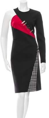 Versace Asymmetrical Wool Dress w/ Tags