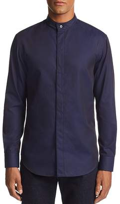 Emporio Armani Striped Diamond-Print Regular Fit Sport Shirt
