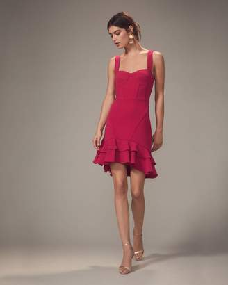 Jonathan Simkhai Pink Bustier Ruffle Hem Mini Dress