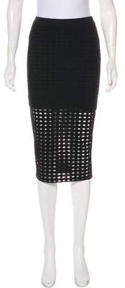 Alexander Wang Knee-Length Eyelet Skirt