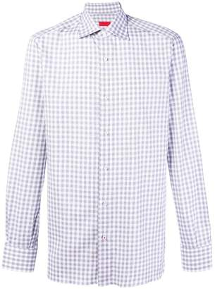 Isaia gingham button shirt