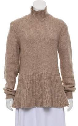 Derek Lam Alpaca Blend Flared Sweater brown Alpaca Blend Flared Sweater