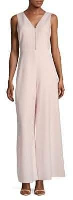 Karl Lagerfeld Paris Faux Pearl-Embellished Sleeveless Jumpsuit
