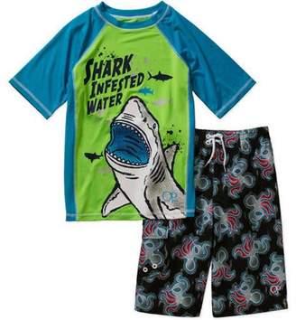 Op Boys 2pc Rashguard Set - Shark Infest