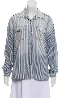Current/Elliott Striped Button-Up Top w/ Tags