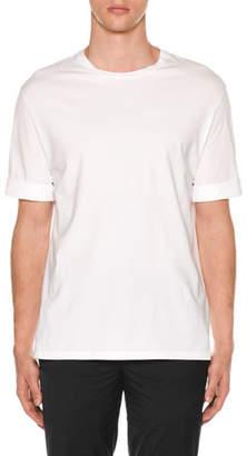 Neil Barrett Men's Poplin-Trim Jersey T-Shirt