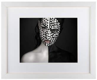 "Yudhistira Yogasara 'Dots' Matted Framed Art - 20"" x 16"" x 0.5"""