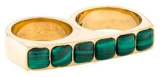 Kelly Wearstler Malachite Sochi Double Finger Ring