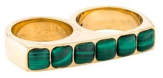 Kelly Wearstler Malachite Sochi Double Finger Ring