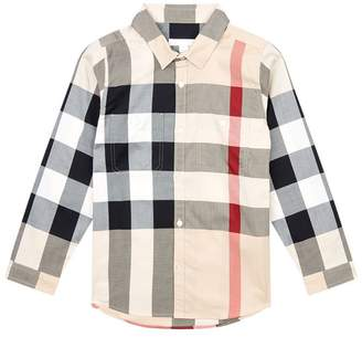Burberry Check Double Pocket Shirt