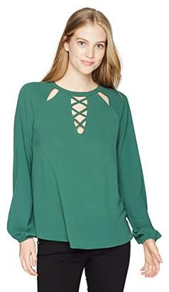 Soul Cake Women's Long Sleeved Top With Cut Out and Corset Detailing
