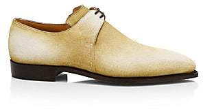 Arca Corthay Men's Pullman Cappucchino Patina Suede Lace-Up Brogue Shoes