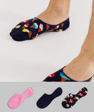 Happy Socks 3 pack sneaker liners